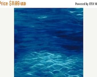 20 % off thru 8/20 PEACEFUL WATER  Michael Miller fabric 1 yard cotton ocean sea landscape