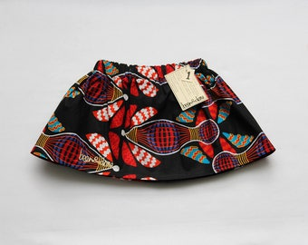 African Wax Print Skirt Girl's Size One