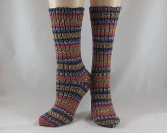 Winter Socks-Knit Wool Socks-Striped Socks-Warm Socks-Winter Socks-Knit Winter Socks-Soft Wool-Warm Socks-  Handmade Socks-Hand Knit Socks