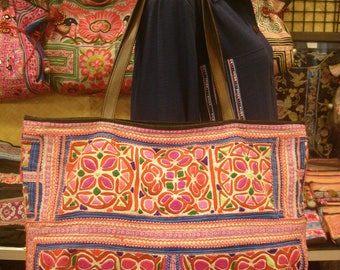 Tote/vintage -Tribal-Handmade Ethnic Hmong Bag 019