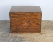 Vintage Weis Wood Recipe Index Storage Box