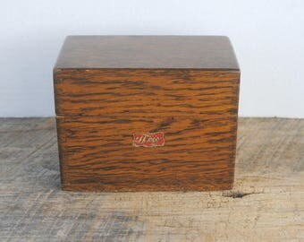 Vintage Weis Wood Recipe Index Storage Box