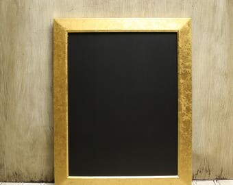 Framed Chalkboard - Home Decor - Wall Hanging - Gold - Wedding Decor