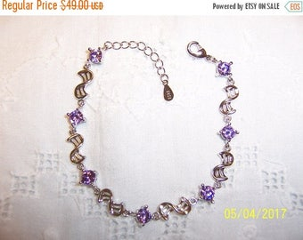 TWICE A YEAR, 25% Off Vintage Purple Stones bracelet. Sterling silver.