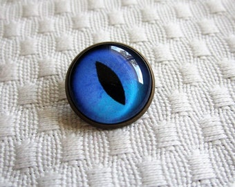 Sew on glass cat eyes