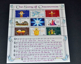 Indian Ocean 9 mint stamps Songs of Christmas  1978