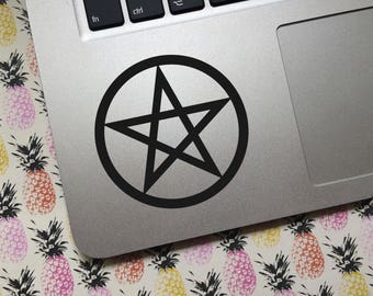 Pentacle vinyl decal - Choice of colors and sizes - Car decal, Laptop sticker, tablet decal, phone decal, travel mug, water bottle