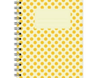 Notebook A6 - Polka Dots Yellow