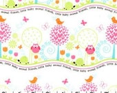 SHOP CLOSING SALE Michael Miller Fat Quarter Fabric for quilt or craft Animal Friends in Girl