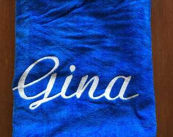 Royal blue Beach towel, Kids beach towel, monogrammed beach towel, personalized, pool towel, monogrammed towels, pool party gift, vacation,