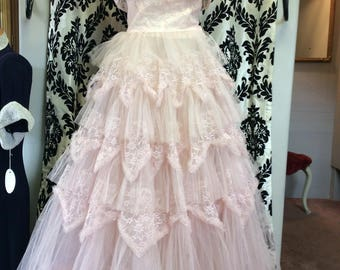 PRECIOUS PINK lace prom Dress