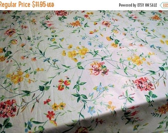 20% Summer SALE Vintage Fabric by Waverly, Garden Trail Pattern 100 Percent~Polished Cotton, Perfect Print For Spring, By The Yard~Bermuda C
