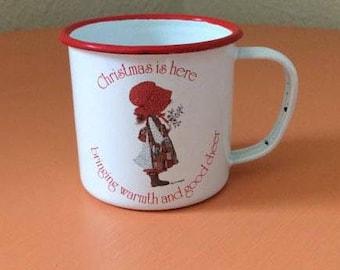 Vintage Holly Hobbie Christmas Mug