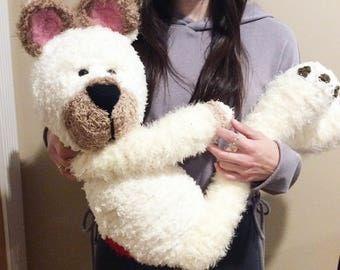 Crocheted Amigurumi Plush Teddy Bear