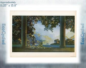 Maxfield Parrish Vintage Poster Daybreak neoclassical art print ready to frame print vintage art print Paper Ephemera Book Page z13