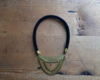 Black Collar Statement Necklace
