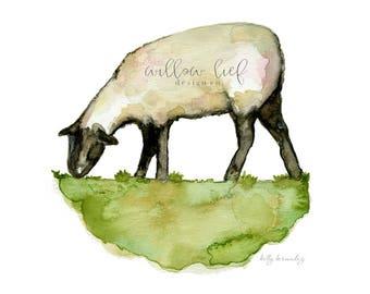 Lamb Print, Sheep Print, Sheep Art, Easter,  Watercolor Printable, Wall Art, Nursery Art