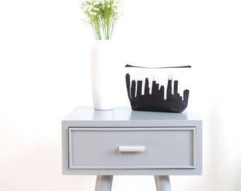 Nashville City Makeup Bag - Skyline Silhouette