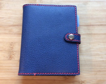Handmade and reusable leather A6 Notebook cover complete with ruled A6 notebook