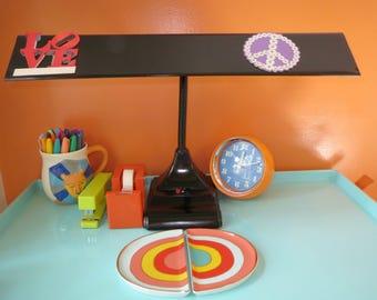 Vintage 1950s MID Century Industrial Flex Arm Black Metal Art Specialty Desk Lamp
