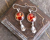 Book lovers Earrings vint...