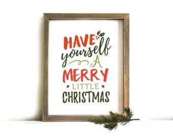 Christmas Printable Wall Art - Christmas Sign, Printable Art, Christmas, Merry Christmas, Christmas Decor, Christmas Printable, Printable