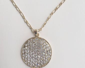 Handmade Crystal Pave Pendant Necklace