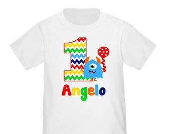 ON SALE Monster Personalized Birthday Shirt - ANY Age