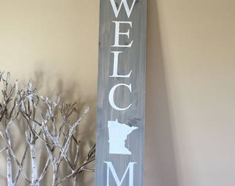 State welcome sign