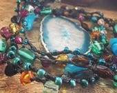 Cracked Earth Agate Necklace