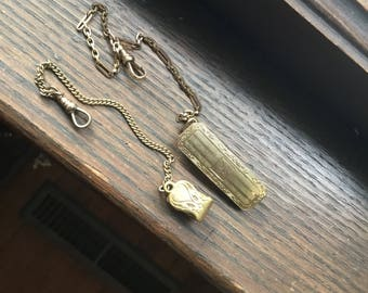 2 1920's watch gold fobs