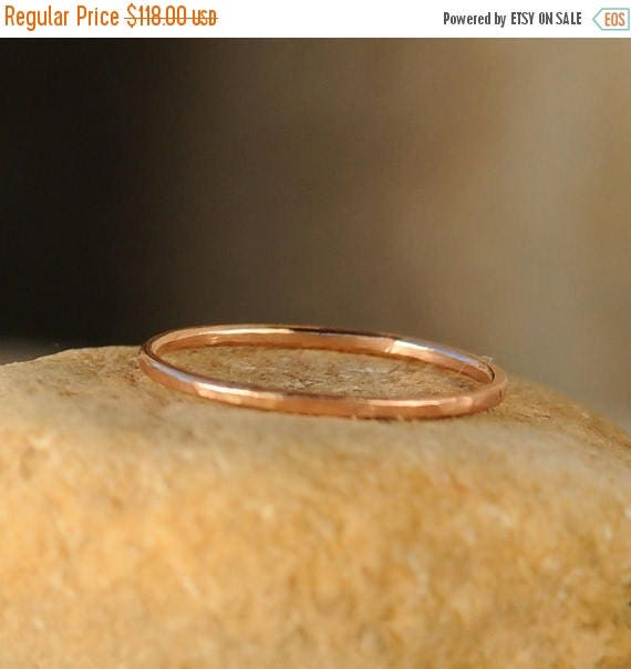 ON SALE Minimalist Stacking Ring - Stack Ring - Thin Rose Gold Stackable Ring