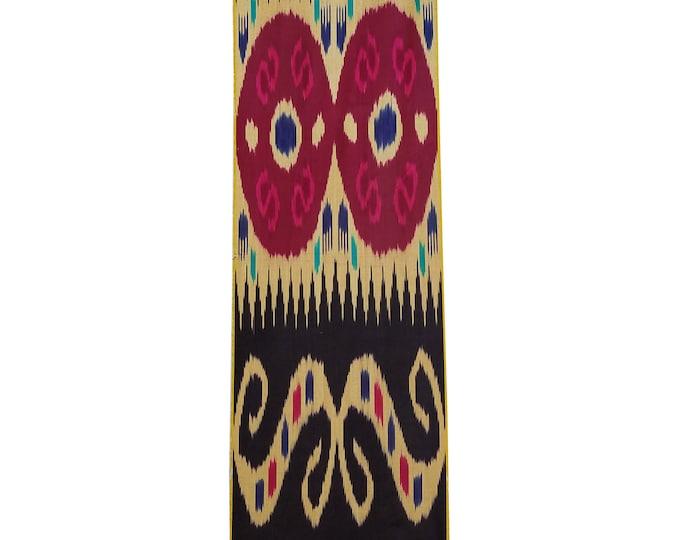 Sale! Ikat Fabric, Ikat Fabric by the yard, Hand Woven Fabric, Cf108