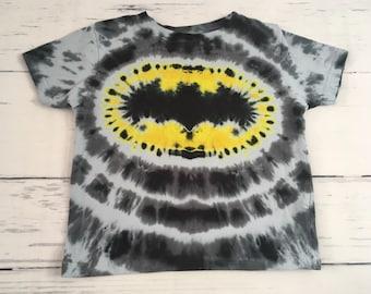 4T Toddler Bat ManTie Dye Tee Shirt