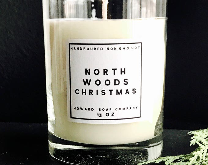 Featured listing image: NORTHWOODS CHRISTMAS >> pine cranberry/handpoured soy candle/phthalate free/minnesotamade