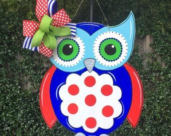 Owl Door Hanger, Teacher Door Hanger, Back To School, Classroom Theme, Spring Door Hanger, Summer Door Hanger, Childs Room