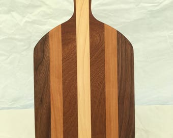 Cheese board made from cherry, walnut, mahogany and maple woods