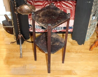 Vintage Rustic Side Table Plant Stand Farmhouse Cabin Decor Handmade