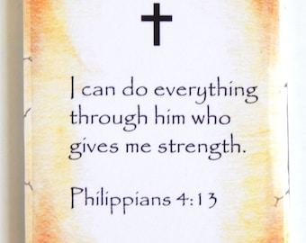 Philippians 4:13 Bible Verse Fridge Magnet (2 x 3 inches)