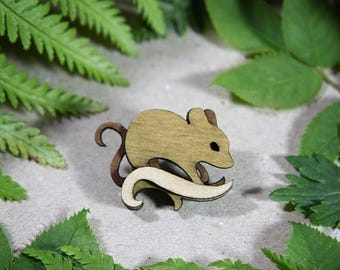 SALE Mouse Brooch - Woodland Collection
