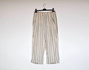 Vintage Rifle Wide Leg High Waist Striped Slouchy Summer Preppy Pants
