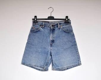 Vintage Levi's High Waist Light Blue Denim Shorts