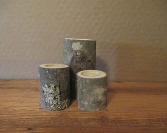 Wood Tealight Candle