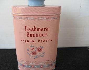 Vintage Colgate Palmolive Cashmere Bouquet Powder Tin