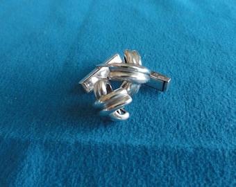 D046)  Vintage Tiffany Silver Cufflinks