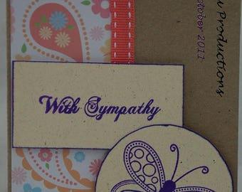 With Sympathy Card Handmade Card