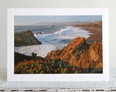 California Coast Photo Greeting Card, View from Highway 1, Fine Art Photography, Wild California Notecard , Pacific Ocean, High Surf Photo