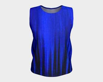 Stylish Blue Tank Top with Savy and ARTitude - Thirty-Six