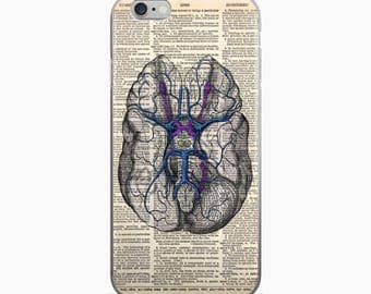 BRAIN Vintage Anatomy Dictionary Art iPhone 7 Case, iPhone 7 Plus Case, iPhone 6s case, Psychology Gifts for Grads iPhone 6 plus Cover