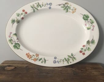 "Minton ""Meadow"" Bone China Serving Platter"